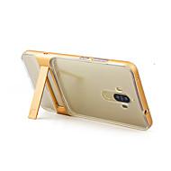 Для со стендом Прозрачный Кейс для Задняя крышка Кейс для Один цвет Твердый Силикон для HuaweiHuawei P8 Lite (2017) Huawei Honor 6X