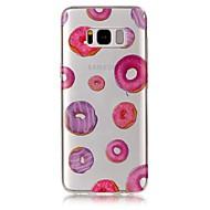 Недорогие Чехлы и кейсы для Galaxy S8 Plus-Кейс для Назначение SSamsung Galaxy S8 Plus S8 IMD Прозрачный С узором Задняя крышка Продукты питания Мягкий TPU для S8 S8 Plus S7 edge