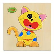 billige Puslespil-Pædagogiske huskespil Puslespil Træpuslespil Klodspuslespil Pædagogisk legetøj Dyr GDS Sjov Klassisk Tegneserie Børne Gave