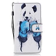 Назначение Чехлы панели Кошелек Бумажник для карт со стендом Флип С узором Чехол Кейс для Животное Твердый Искусственная кожа для Samsung