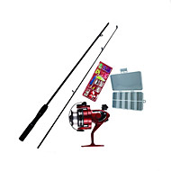 フライフィッシング用ロッド ペン型釣り竿 磯釣りロッド 釣り竿 サーフロッド FRP 165 cm 海釣り フライフィッシング 穴釣り 2 セクション 釣り竿 + リール ファースト(F) 重(H) 不可視
