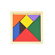 cheap Toy & Game-Tangram Jigsaw Puzzle Wooden Puzzles Educational Toy Square DIY Classic Gift