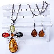זול -בגדי ריקוד נשים שרשראות תליון תכשיטים תכשיטים אבן יקרה סגסוגת מותאם אישית Euramerican תכשיטים ל יומי קזו'אל