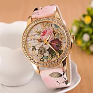 tanie Zegarki boho-Damskie Sztuczny Diamant Zegarek Zegarek na nadgarstek Do sukni/garnituru Modny Kwarcowy sztuczna Diament PU Pasmo Kwiat Biały Czerwony