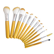 12pcs Contour Brush Makeup Brush Set Blush Brush Eyeshadow Brush Brow Brush Concealer Brush Foundation Brush Synthetic HairTravel Full