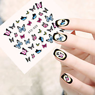 voordelige -5pcs/set Nagelkunst sticker Watertransfer decals make-up Cosmetische Nagelkunst ontwerp