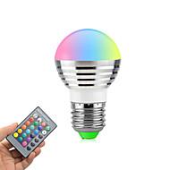 お買い得  LED ボール型電球-3W 270lm E26 / E27 LEDボール型電球 回転可能 1 LEDビーズ ハイパワーLED 調光可能 リモコン操作 RGB 85-265V