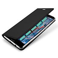 Varten Korttikotelo AutomAutomaattinen auki/kiinni Flip Magneetti Etui Kokonaan peittävä Etui Yksivärinen Kova Tekonahka varten OnePlus