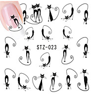 10pcs/set Nail Art matrica Víz Transfer Matricák smink Kozmetika Nail Art Design
