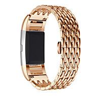 voor Fitbit lading 2 smartwatch vervanging geschenken echte roestvrij stalen armband slimme horloge band