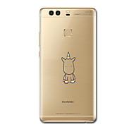 お買い得  携帯電話ケース-ケース 用途 Huawei社P9 Huawei社P9ライト Huawei社P8 Huawei Huawei社P9プラス Huawei P7 Huawei社P8ライト 超薄型 パターン バックカバー ユニコーン ソフト TPU のために Huawei P9 Plus