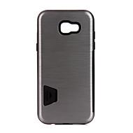 Назначение Чехлы панели Бумажник для карт Защита от удара Задняя крышка Кейс для Сплошной цвет Твердый Металл для SamsungA7 (2017) A3