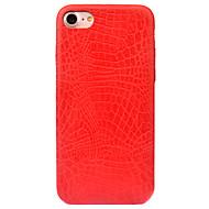 Недорогие Кейсы для iPhone 8 Plus-Назначение iPhone 8 iPhone 8 Plus Чехлы панели Матовое С узором Задняя крышка Кейс для Сплошной цвет Твердый Искусственная кожа для Apple