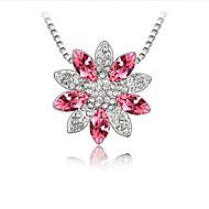 Жен. Ожерелья с подвесками Кристалл В форме цветка Цветочный дизайн Цветы Цветочный принт По заказу покупателя Euramerican Бижутерия