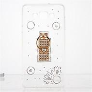 Для Стразы Кольца-держатели Прозрачный Своими руками Кейс для Задняя крышка Кейс для Плитка Мягкий TPU для Samsung A7