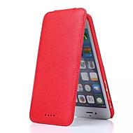 Недорогие Кейсы для iPhone 8-Назначение iPhone 8 iPhone 8 Plus Чехлы панели Бумажник для карт Флип Чехол Кейс для Сплошной цвет Твердый Натуральная кожа для Apple