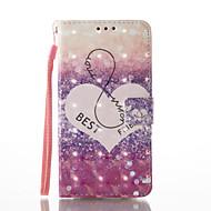 Кейс для Назначение SSamsung Galaxy A5(2017) A3(2017) Кошелек Бумажник для карт со стендом Флип С узором Магнитный Чехол С сердцем Твердый