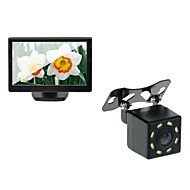 voordelige Auto DVR's-5 auto tft lcd-monitor en auto achteruitrijcamera backup 8LED night vision camera