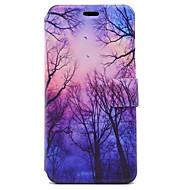 Недорогие Чехлы и кейсы для Galaxy J5(2016)-Кейс для Назначение SSamsung Galaxy J5 (2016) J3 (2016) Бумажник для карт со стендом Флип Магнитный С узором Чехол дерево Твердый Кожа PU