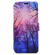 Недорогие Чехлы и кейсы для Galaxy S8-Кейс для Назначение SSamsung Galaxy S8 Plus S8 Бумажник для карт со стендом Флип Магнитный С узором Чехол дерево Твердый Кожа PU для S8