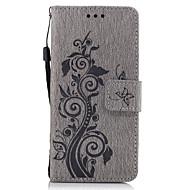 olcso Mobiltelefon tokok-Mert Pénztárca Kártyatartó Állvánnyal Flip Dombornyomott Minta Case Teljes védelem Case Virág Kemény Műbőr mert SonySony Xperia X Sony