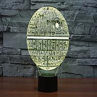 Недорогие Интеллектуальные огни-Звезда смерти красочный 3 d свет привело акриловые стерео и легкий свет касания