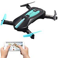 olcso rc játékok-RC Drón JY 018 4CH 6 Tengelyes 2,4 G 2.0MP HD kamerával 720 RC quadcopter FPV LED fények Egygombos Visszaállítás Auto-Felszállás Headless
