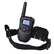 abordables Accesorios para Mascota-Perro collar de la corteza Collares de Entrenamiento para Perros Antiladrido Recargable Control Remoto Vibración LCD 300M Un Color El