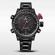 Недорогие Фирменные часы-WEIDE Муж. Спортивные часы / Армейские часы Японский Будильник / Календарь / Защита от влаги Нержавеющая сталь Группа Черный / С двумя часовыми поясами / Хронометр / Два года / Maxell626 + 2025