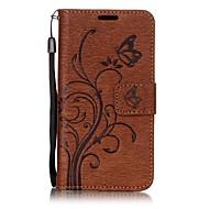Для Samsung galaxy a7 (2017) a5 (2017) бабочка и цветок тиснение модель pu кожа материал кошелек функция телефон кейс a3 (2017) a510 a310