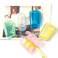 tanie Akcesoria podróżne-Fonoun Plastikowy Podróżne etui/nasadka na szczoteczkę do zębów Organizer podróżny do walizki Moistureproof Przenośny Ultralekkie