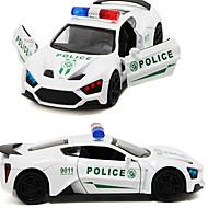 Gegoten voertuigen Speelgoedauto's Speeltjes Constructievoertuig Politieauto Speeltjes Geluiden Simulatie Paard Metaallegering Stuks