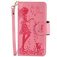 Недорогие Чехлы и кейсы для Galaxy S-Кейс для Назначение SSamsung Galaxy S8 Plus S8 Бумажник для карт Кошелек со стендом Флип Рельефный Чехол Соблазнительная девушка Твердый