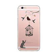 Capinha Para Apple iPhone X / iPhone 8 Ultra-Fina / Estampada Capa traseira Gato Macia TPU para iPhone X / iPhone 8 Plus / iPhone 8