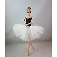저렴한 -파티 / 이브닝 드레스 에 대한 Barbiedoll 스판덱스 라이크라 / 라이크라 드레스 에 대한 여자의 인형 장난감