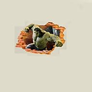 povoljno -Životinje Crtani film 3D Zid Naljepnice Zidne naljepnice 3D zidne naljepnice Dekorativne zidne naljepnice Naljepnice za vjenčanje, Papir