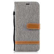 Кейс для Назначение SSamsung Galaxy S8 Plus S8 Кошелек Бумажник для карт со стендом Флип Чехол Полосы / волосы Твердый Текстиль для S8 S8