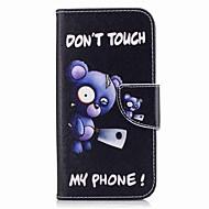 Для samsung galaxy a3 (2017) a5 (2017) держатель для карточек с подставкой с флип-патчем корпус с корпусом для синего медведя твердая кожа