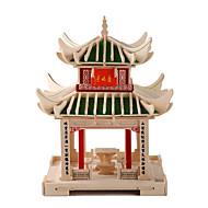 billiga -3D-pussel Känd byggnad Kinesisk arkitektur Trä Unisex Leksaker Present