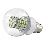 6W B22 LED Globe Bulbs 69 SMD 5730 500-550 lm Warm White Cold White K AC85-265 V