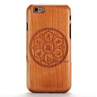 Недорогие Сегодняшнее предложение-Кейс для Назначение iPhone 6s / iPhone 6 / Apple Рельефный / С узором Кейс на заднюю панель Имитация дерева / Мандала Твердый деревянный для