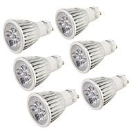 お買い得  LED スポットライト-5W GU10 LEDスポットライト R63 5 LEDの ハイパワーLED 装飾用 温白色 クールホワイト 400-450lm 3000/6000K 交流220から240 AC 110-130V