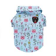 abordables Accesorios para Hogar y Mascotas-Gato Perro Camiseta Chaleco Ropa para Perro Animal Azul Algodón Disfraz Para mascotas Hombre Mujer Bonito Casual/Diario Moda
