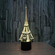 Недорогие Интеллектуальные огни-Башня 3 d лампа творческая визуальная стерео лампа сенсорные лампы проекционная лампа