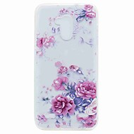 olcso Mobiltelefon tokok-ZTE v7 v7 lite lefedik áttetsző minta hátlapját esetében virág puha TPU ZTE blade A452