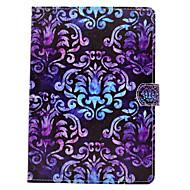 olcso iPad tokok-Case Kompatibilitás Apple iPad 4/3/2 iPad Air 2 iPad Air Kártyatartó Pénztárca Állvánnyal Flip Mágneses Minta Héjtok Mandala csipke