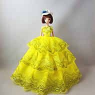 저렴한 -프린세스 드레스 에 대한 바비 인형 레이스 공단 드레스 에 대한 여자의 인형 장난감