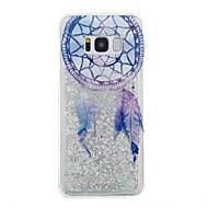voordelige Galaxy S7 Hoesjes / covers-hoesje Voor Samsung Galaxy S8 Plus S8 Stromende vloeistof Transparant Patroon Achterkantje Transparant Dromenvanger Glitterglans Zacht TPU