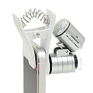 tanie Fotografia smartfonem-60-krotny zoom led matrycowy mikroskop lupy powiększający biżuterię lupa biżuteria lupa powiększająca mikroskop do uniwersalnych telefonów