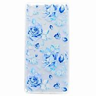 olcso Mobiltelefon tokok-sony xa ultra kompakt x burkolata áttetsző minta hátlapot esetben kék rózsa puha TPU Sony Xperia c6 xa e5 x perfor